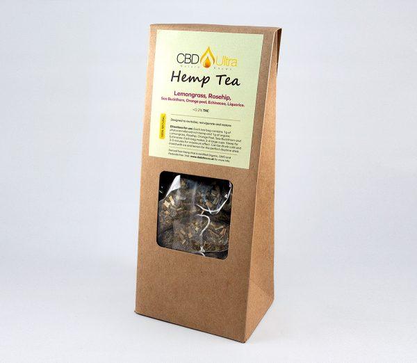 CBD Tea - Hemp & Lemongrass, Rosehip, Sea Buckthorn, Orange peel, Echinacea, Liquorice