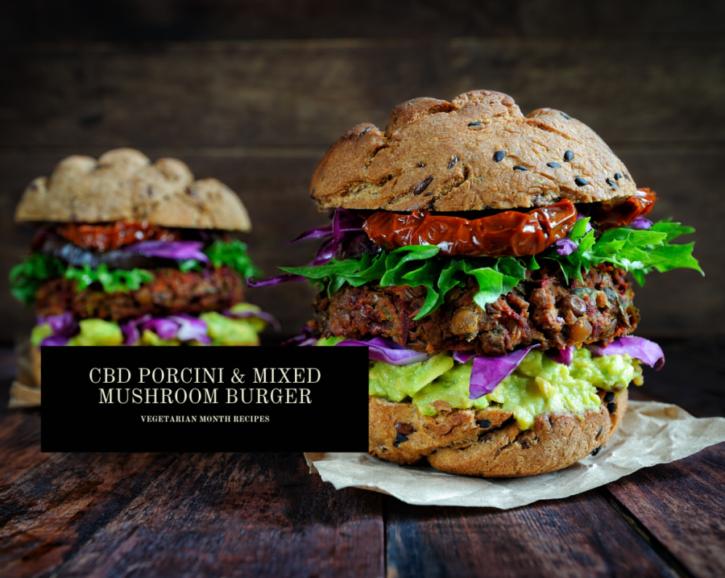 CBD Porcini & Mixed Mushroom Burger